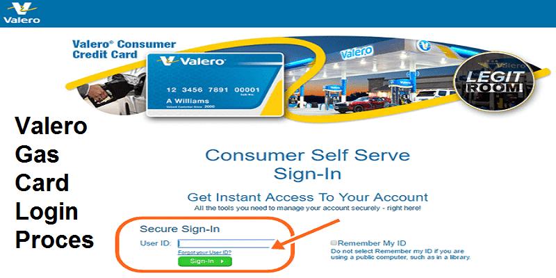 Valero Gas Card Login Process