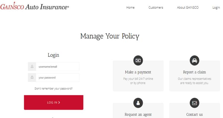Gainsco Agent Login | Make a GAINSCO Insurance Payment