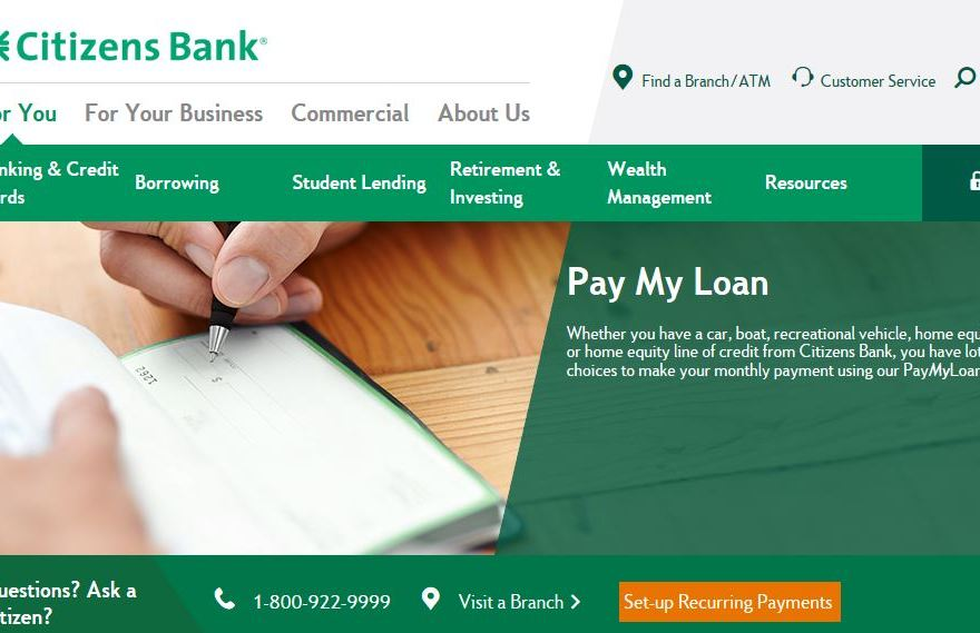 Make Citizens Loan Payment Online