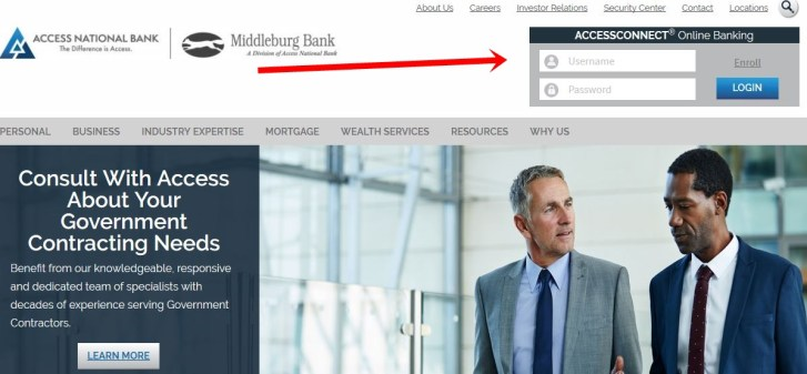 Access National Bank Online Banking Login