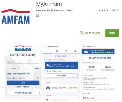 American Family Auto Insurance login