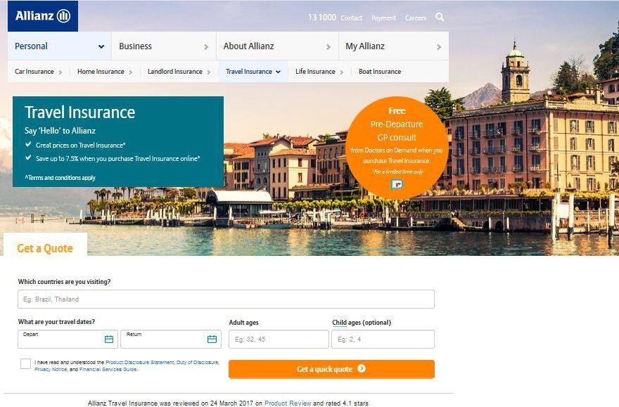 Allianz Travel Insurance Quote