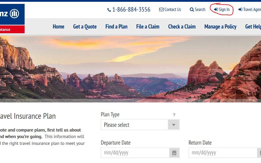Allianz Travel Insurance Login
