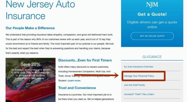 NJM Auto Insurance Login