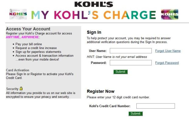 Kohl's Charge Payment