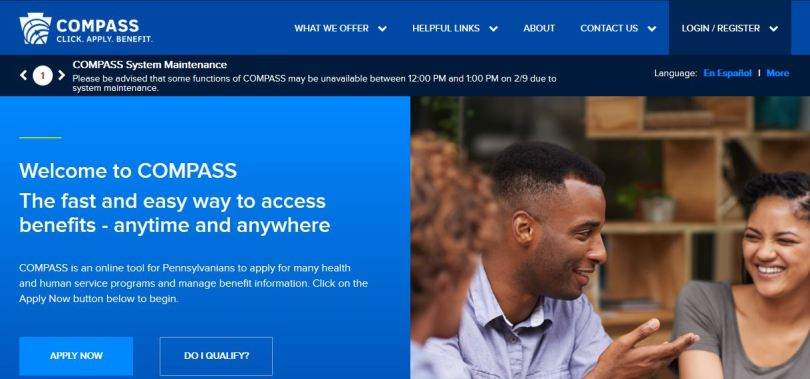 Apply for Pennsylvania COMPASS Benefits @ www compass state pa us