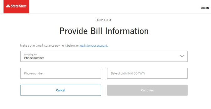 State Farm Insurance Bill Payment