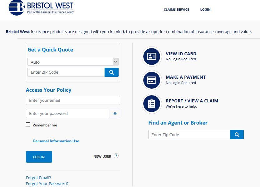 Bristol West Insurance Login