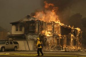 California Wildfire Santa Rosa 300x200 - Someone Else's Wires May Have Started California Wildfires, PG&E Says