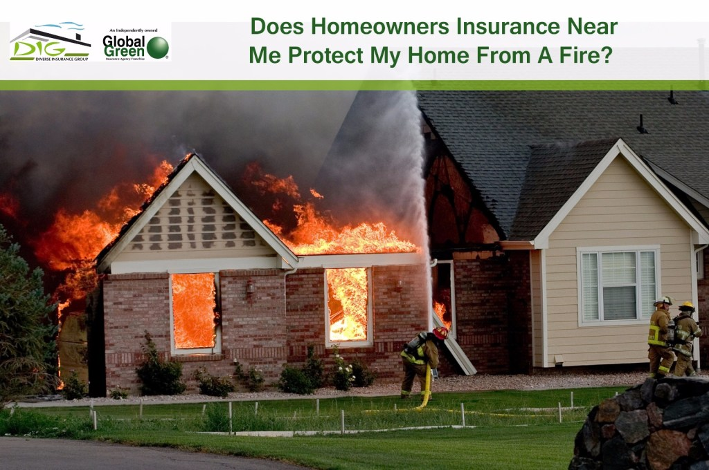 Homeowners insurance protects fire