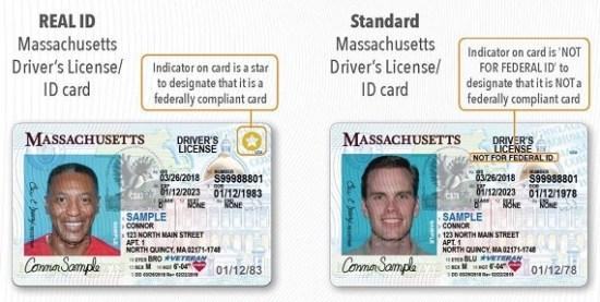 Massachusetts REAl-ID compliant license sample