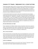 AEIG F04 – Replacement Cost vs Actual Cash Value