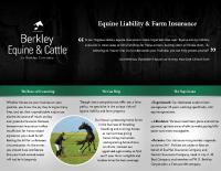 Berkley Equine & Cattle – Farm & Liability Brochure