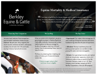Berkley Equine & Cattle – Mortality Brochure