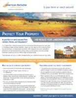 Loss Control Flyer – Farm Security
