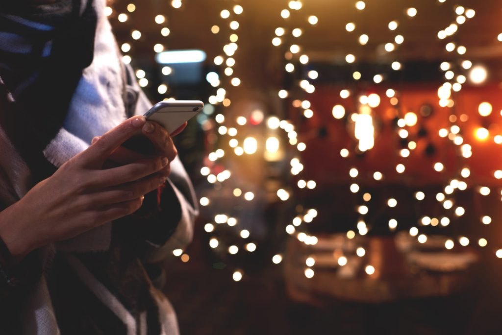 tax, Phone with Christmas Lights image