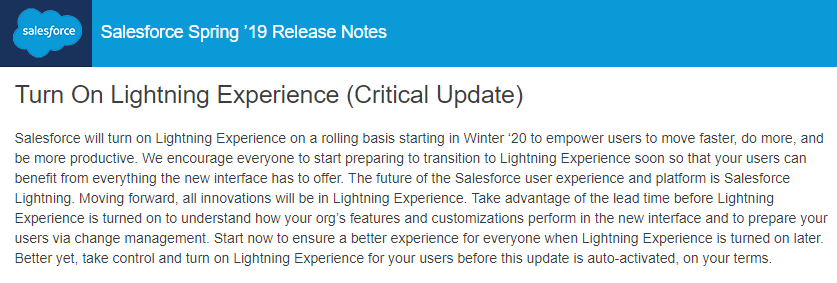 Salesforce Spring '19 Release Notes