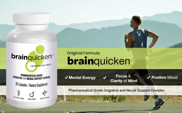 Brainquicken original formula for mental energy, focus and clarity of mind and positive mood. A Pharmaceutical grade cognitive and neural support complex.