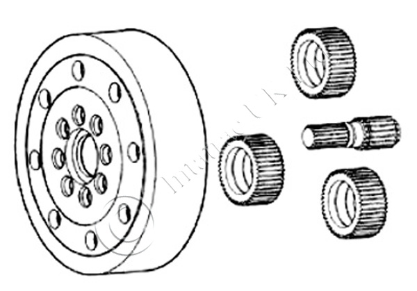 Front Axle Planetery Kit with bearing