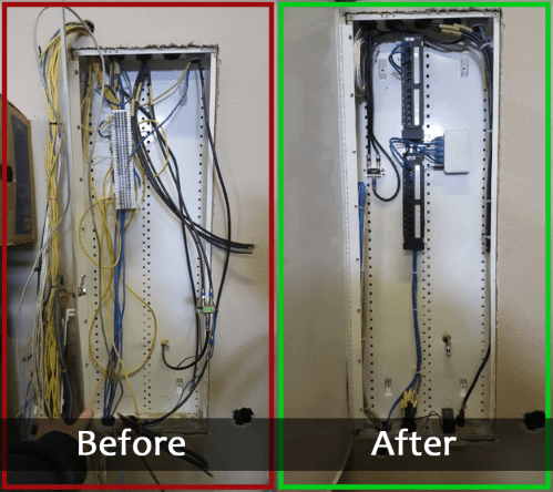small resolution of network cabling clean up