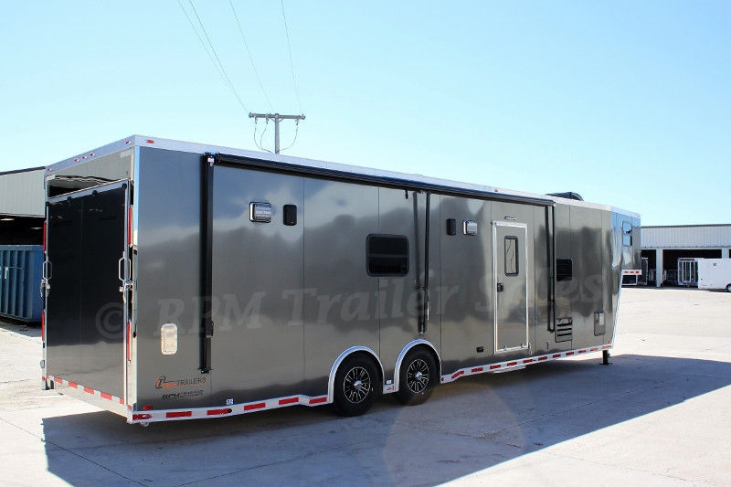 40 Aluminum Race Car Trailer with Bathroom Package