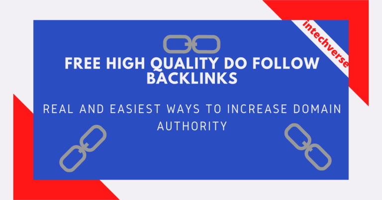 free high quality do follow backlinks