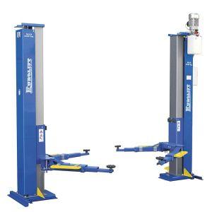 4-Elevadores electrohidráulicos de dos columnas de 2 cilindros con canal