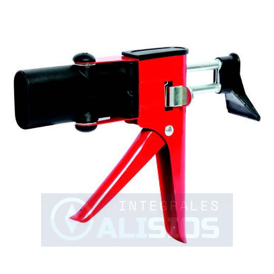 Pistola metálica para adhesivos bicomponentes