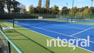 Artificial grass tennis courts
