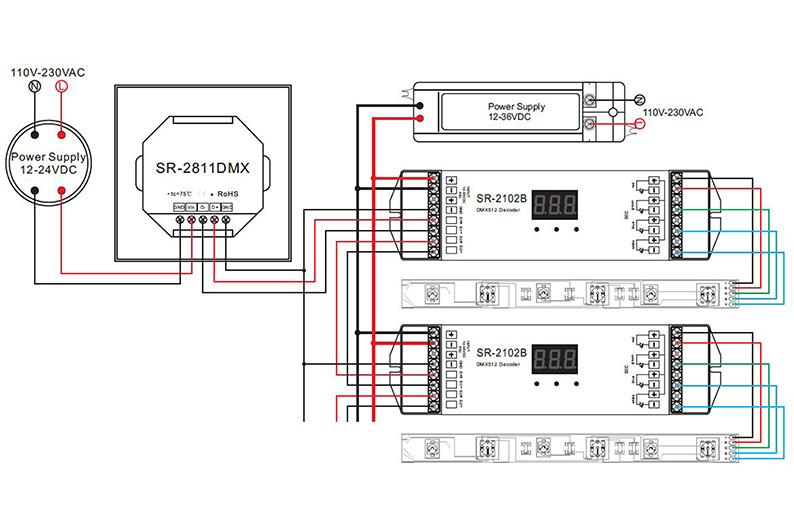10v Dimming Wiring Diagram Dmx Sturing Voor Het Aansturen Van Led Strip Integratech