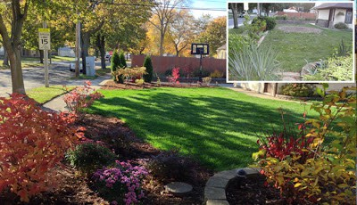 Before and after of fall foliage by Integrity