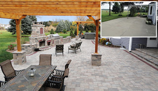 patio before and after montage