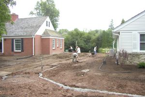Drainage and Grading Project in Bayside WI