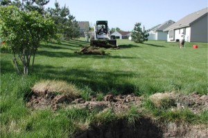 Drainage Swale and Drain Tile in Waukesha, WI