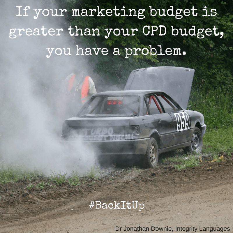 If your marketing budget is greater than your CPD budget, you have a problem