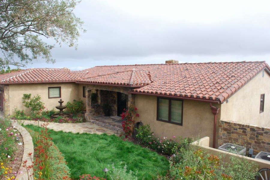 Torrance/Hollywood Riviera clay tile roof, copper gutters, and copper sheetmetal