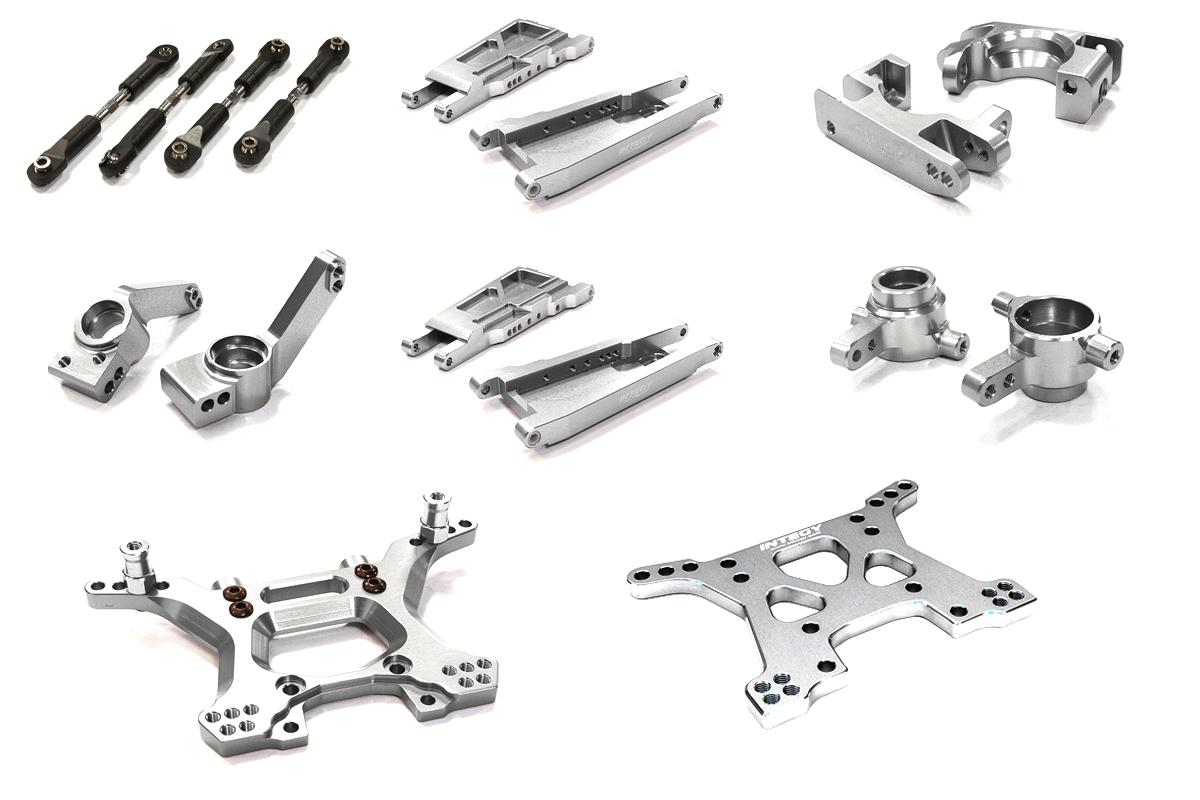 Rc Car C Silver Machined Stage 1 Suspension Kit For
