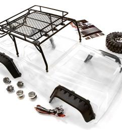 realistic jpx scale body w steel roll cage led light for 1 10 [ 1000 x 826 Pixel ]