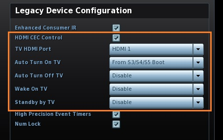 Legacy Device Configuration