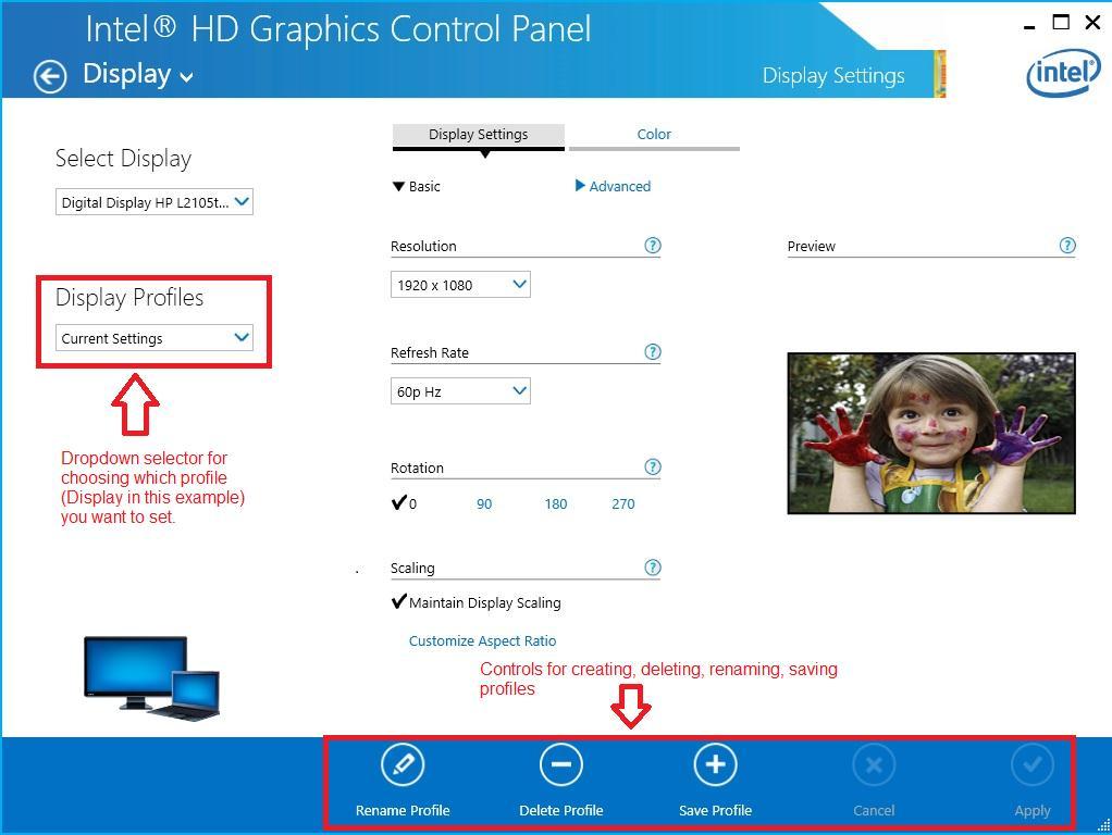 如何使用Intel®圖形設定檔