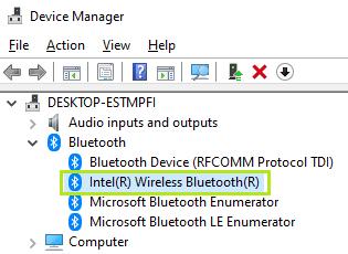 デバイス・マネージャーにおける Bluetooth またはワイヤレス (Wi-Fi) デバイスのコード 10 エラー