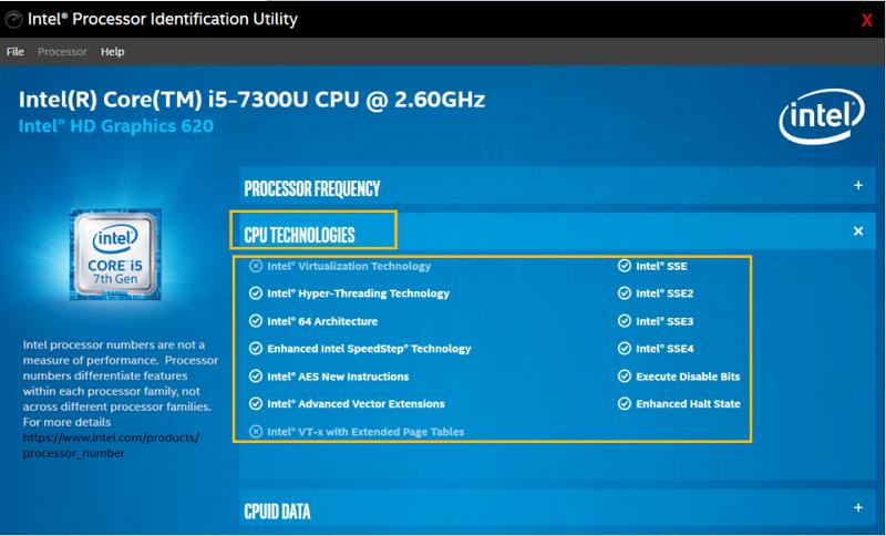 Intel®處理器識別實用程式概覽