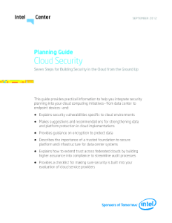 Cloud Security Checklist and Planning Guide