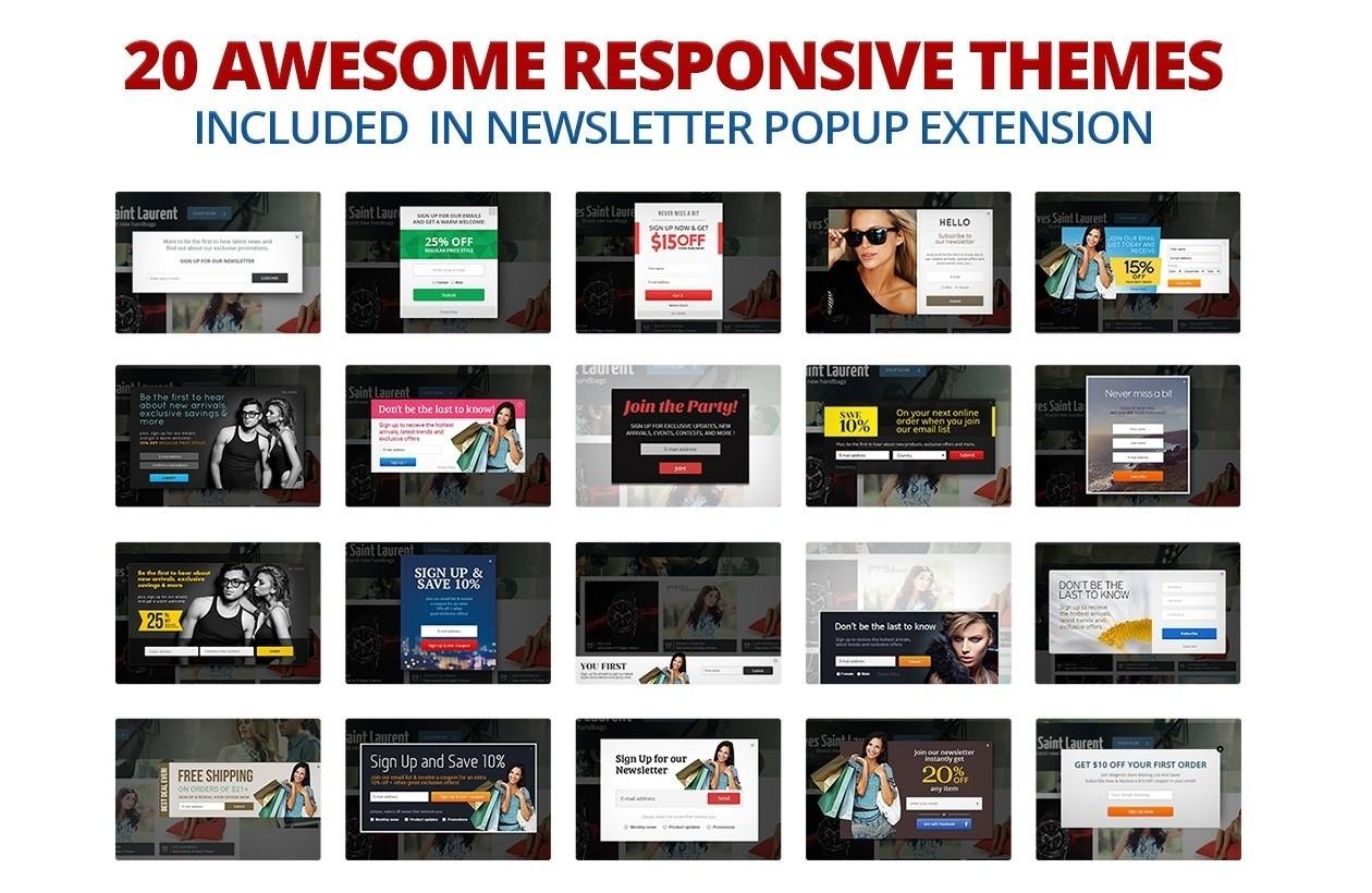 Nieuwsbrief Popup Extensie voor Magento 1-89