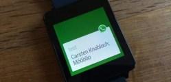 Whatsapp funcionando no Android Wear em um LG G watch (fonte: http://www.lowyat.net/)