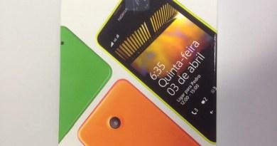 Lumia 635 na caixa