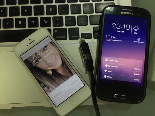 Cabo de Dados 2 x 1 - Lightning e Micro USB