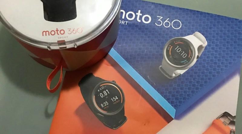 Caixa do Moto 360 Sport
