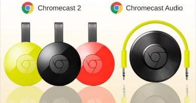 Novo Chromecast (ou Chromecast 2) e Chromecast áudio