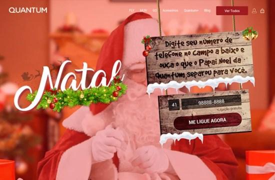 Fale com o papai Noel da Quantum